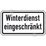 Winterschild / Verkehrszeichen, Winterdienst eingeschränkt (Maße (BxH): 420x231mm (Art.Nr.: 14165))