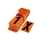 Ziffernsatz mit Tasche für Warntafeln gem. GGVS und ADR (Modell/BxH: 3x Leerfeld/70x117mm (Art.Nr.: 20190))