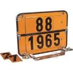 Zifferntafel für Tankfahrzeuge, starr, Komplett-Satz gem. ADR und GGVS