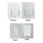 Zubeh&ouml;r Aufs&auml;tze DIN A4 f&uuml;r -flip &amp; flippy- (Modell/Material:  <b>Stopquick</b><br>(Posterhalter)<br>Acrylglas,glasgr&uuml;n (Art.Nr.: 11991))