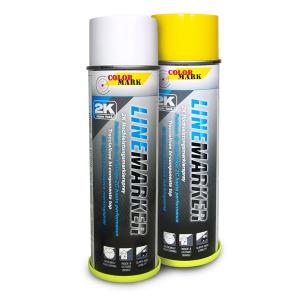 2K-Linien-Markierfarbe -Linemarker-, 500 ml, gelb oder weiß, langfristig, schnelltrocknend (Farbe: weiß (Art.Nr.: dh1070))