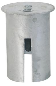 Abdeckkappe für Bodenhülse mit Federverschluss Ø 76 mm (Ausführung: Abdeckkappe für Bodenhülse mit Federverschluss Ø 76 mm (Art.Nr.: 476.21))