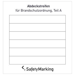 Abdeckstreifen für Brandschutzordnung (Ausführung: Folie, langnachleuchtend (Art.Nr.: 38.a5985))