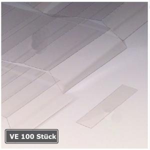 Abdeckungen für Permaflex C-Profile, VE 100 Stück (Maße (BxH)/Verpackungseinheit:  <b>60 x 10 mm</b>/VE 100 Stk. (Art.Nr.: 90.3094))