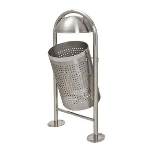 Abfallbehälter -Astro- 35 Liter aus Edelstahl, mit Dach (Ausführung: Abfallbehälter -Astro- 35 Liter aus Edelstahl, mit Dach (Art.Nr.: 21960))
