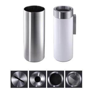 Abfallbehälter -CREW- Volumen 33 Liter, mobil, Boden- oder Wandbefestigung, wahlweise beschichtet