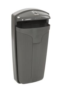 Abfallbehälter -Cibeles- 50 Liter aus Kunststoff, mit Ascher (Ausführung: Abfallbehälter -Cibeles- 50 Liter aus Kunststoff, mit Ascher (Art.Nr.: 37545))
