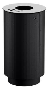Abfallbehälter -City 1200- 90 Liter aus Stahl, mit Ascher (Farbe: ohne Farbe (Art.Nr.: 37480))