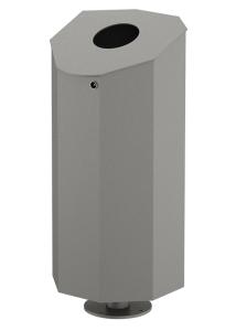 Abfallbehälter -City 150- 100 Liter aus Stahl, wahlweise mit Ascher