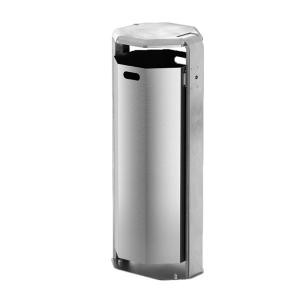 Abfallbehälter -City 700- 110 Liter aus Aluminium, mit Ascher oder Abdeckung
