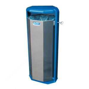 Abfallbehälter -City 700- 110 Liter aus Aluminium, verschiedene Befestigungen