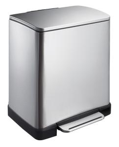 Abfallbehälter -E-Cube-, 20 Liter aus Edelstahl, mit Pedal (Farbe: schwarz (Art.Nr.: 35871))