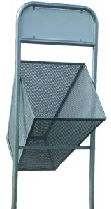 Abfallbehälter -Flensburg- 300 oder 360 Liter aus Stahl, mit Werbeschild, rund oder eckig