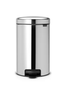 Abfallbehälter -Iconic Step- Brabantia, 12 Liter, aus Stahl, mit Pedal, verschiedene Farben (Farbe/Modell:  <b>weiß</b><br>Innenbehälter Kunststoff (Art.Nr.: 36469))