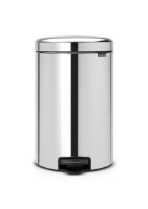 Abfallbehälter -Iconic Step- Brabantia, 20 Liter, aus Stahl, mit Pedal, verschiedene Farben (Farbe/Modell:  <b>weiß</b><br>Innenbehälter Kunststoff (Art.Nr.: 36484))