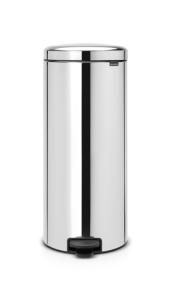 Abfallbehälter -Iconic Step- Brabantia, 30 Liter aus Stahl, mit Pedal, verschiedene Farben (Farbe/Modell:  <b>weiß</b><br>Innenbehälter Kunststoff (Art.Nr.: 36500))