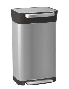 Abfallbehälter -Intelligent Waste Titan-, 30 Liter aus Edelstahl, mit Pedal und Müllpresse (Ausführung: Abfallbehälter -Intelligent Waste Titan-, 30 Liter aus Edelstahl, mit Pedal und Müllpresse (Art.Nr.: 37801))