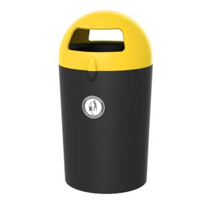 Abfallbehälter -Metro Dome- 100 Liter aus Kunststoff (Deckelfarbe: blau (Art.Nr.: 37702))