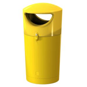Abfallbehälter -Metro Hooded- 100 Liter aus Kunststoff (Farbe: blau (Art.Nr.: 37697))