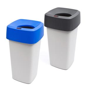 Abfallbehälter -Modo eckig-, 60 Liter aus Polyethylen (Deckelfarbe: ohne Deckel (Art.Nr.: 37784))