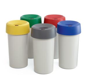 Abfallbehälter -Modo rund-, 50 Liter aus Polyethylen (Deckelfarbe: 10,14)