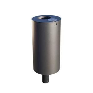 Abfallbehälter -Naxos- 50 oder 75 Liter aus Stahl, 3p-Technologie (Sollbruchstelle), inkl. Ascher