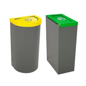 Abfallbehälter -Nice big-, 75 oder 95 Liter aus Edelstahl, feuerfest