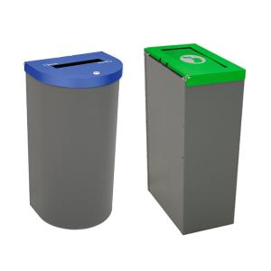 Abfallbehälter -Nice big-, 75 oder 95 Liter aus Stahlblech, feuerfest