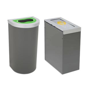 Abfallbehälter -Nice small-, 45 oder 65 Liter aus Edelstahl, feuerfest