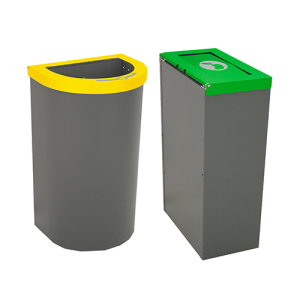 Abfallbehälter -Nice small-, 45 oder 65 Liter aus Stahlblech, feuerfest