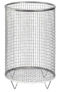 Abfallbehälter -Nr. 2- 75 Liter aus Drahtgitter (Farbe: verzinkt ohne Farbe (Art.Nr.: 19323))