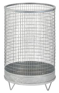 Abfallbehälter -Nr. 6- 75 Liter aus Drahtgitter mit Stahlblechboden (Farbe: verzinkt ohne Farbe (Art.Nr.: 19329))