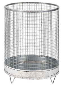 Abfallbehälter -Nr. 7- 118 Liter aus Drahtgitter mit Stahlblechboden (Farbe: verzinkt ohne Farbe (Art.Nr.: 19331))