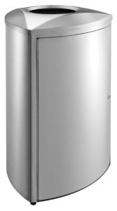 Abfallbehälter -P-Bins 105-, 70 Liter aus Edelstahl, feuerfest (Ausführung: Abfallbehälter -P-Bins 105-, 70 Liter aus Edelstahl, feuerfest (Art.Nr.: 34587))