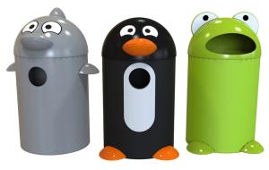 Abfallbehälter -P-Bins 106-, aus Kunststoff (Modell/Volumen/Maße (HxBxT):  <b>Frosch</b>/75 Liter<br>850x515x595 mm (Art.Nr.: 34588))