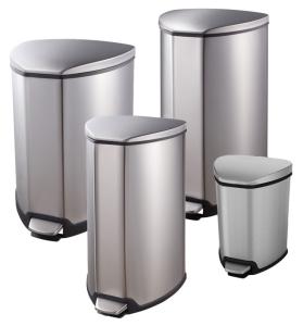 Abfallbehälter -P-Bins 107-, aus Edelstahl, mit Pedal (Volumen/Maße (HxBxT):  <b>5 Liter</b>/290x222x240 mm (Art.Nr.: 34591))