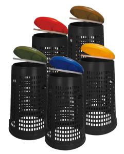 Abfallbehälter -P Bins 109- 110 Liter aus Kunststoff (Deckelfarbe: blau (Art.Nr.: 34670))