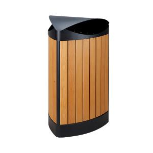 Abfallbehälter -P-Bins 112- 60 Liter aus Stahl mit Kunststoffverkleidung (Holzoptik) (Ausführung: Abfallbehälter -P-Bins 112- 60 Liter aus Stahl mit Kunststoffverkleidung (Holzoptik) (Art.Nr.: 35231))