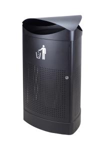 Abfallbehälter -P-Bins 113- 60 Liter aus Stahl (Ausführung: Abfallbehälter -P-Bins 113- 60 Liter aus Stahl (Art.Nr.: 35232))