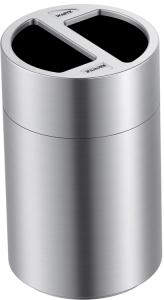 Abfallbehälter -P-Bins 115- 2x60 Liter aus Aluminium (Ausführung: Abfallbehälter -P-Bins 115- 2x60 Liter aus Aluminium (Art.Nr.: 35868))