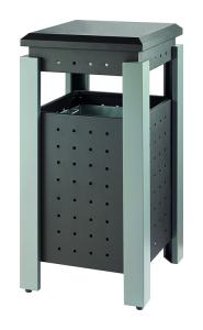 Abfallbehälter -P-Bins 117- 36 Liter aus Stahl, mit Dach (Ausführung: Abfallbehälter -P-Bins 117- 36 Liter aus Stahl, mit Dach (Art.Nr.: 37528))