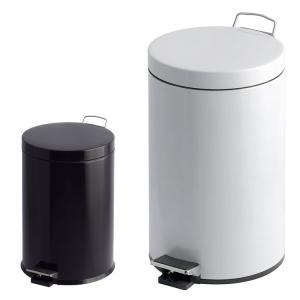 Abfallbehälter -P-Bins 26- 3, 5, 12, 20 oder 30 Liter aus Stahl, mit Pedal (Volumen/Maße (ØxHöhe)/Farbe:  <b>3 Liter</b>/170x260mm<br>weiß (Art.Nr.: 17230))