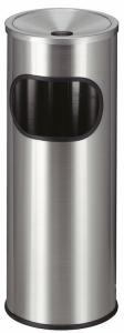 Abfallbehälter -P-Bins 46- 9 Liter aus Edelstahl, mit Ascher, feuerfest (Ausführung: Abfallbehälter -P-Bins 46- 9 Liter aus Edelstahl, mit Ascher, feuerfest (Art.Nr.: 17754))