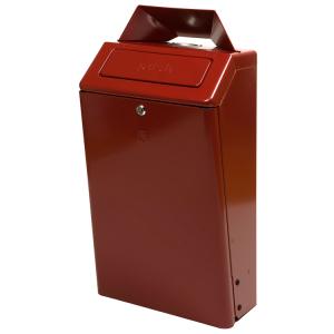 Abfallbehälter -P-Bins Cadiz- 50 Liter aus Aluminium, wahlweise mit Ascher und Einwurfklappe (Modell/Farbe:  <b>ohne Ascher und Einwurfklappe</b>/bordeaux (Art.Nr.: 18021))