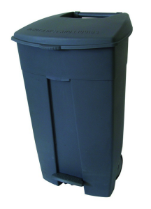 Abfallbehälter -Pro 14- 120 Liter aus Polyethylen, mit Pedal, fahrbar (Farbe Korpus/Farbe Deckel: grau/grau (Art.Nr.: 35668))