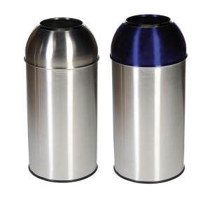 Abfallbehälter -Pro 24-, 40 Liter aus Edelstahl (Deckelfarbe: ohne Farbe (Art.Nr.: 36622))