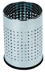 Abfallbehälter -Pro 26- 10 Liter aus Edelstahl, perforiert (Ausführung: Abfallbehälter -Pro 26- 10 Liter aus Edelstahl, perforiert (Art.Nr.: 37053))