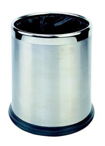 Abfallbehälter -Pro 27- 10 Liter aus Edelstahl (Ausführung: Abfallbehälter -Pro 27- 10 Liter aus Edelstahl (Art.Nr.: 37054))
