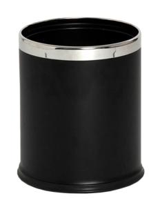 Abfallbehälter -Pro 28- 10 Liter aus Stahl (Farbe: schwarz (Art.Nr.: 37055))
