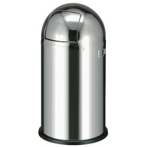Abfallbehälter -Pushboy- Wesco, 50 Liter aus Edelstahl, feuerfest (Ausführung: Abfallbehälter -Pushboy- Wesco, 50 Liter aus Edelstahl, feuerfest (Art.Nr.: 16099))